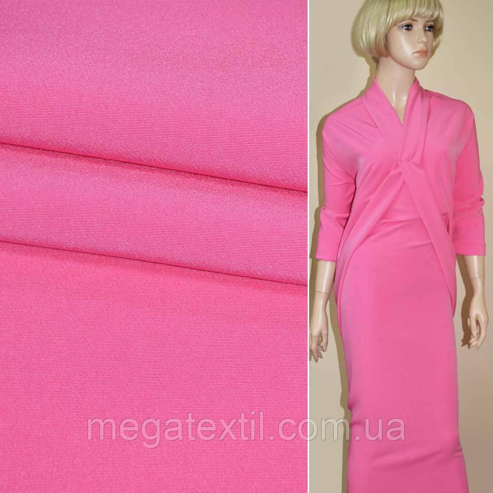 Ткань кост. бистрейч ярко-розовая ш.150