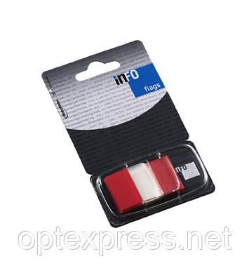 Закладки клейкие в диспенсере  красные 7728-74