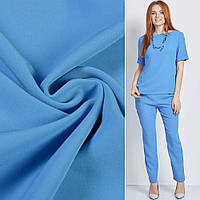 Креп костюмный бистрейч голубой ш.150 (10301.033)