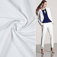 Ткань костюмная бистрейч белая ш.150 (10303.001)
