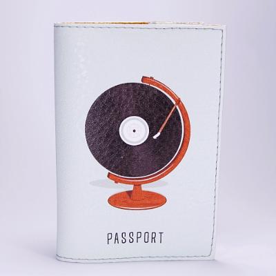 """Обложка на паспорт, """"Глобус"""", экокожа"""