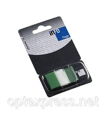 Закладки клейкие в диспенсере  зеленые 7728-43