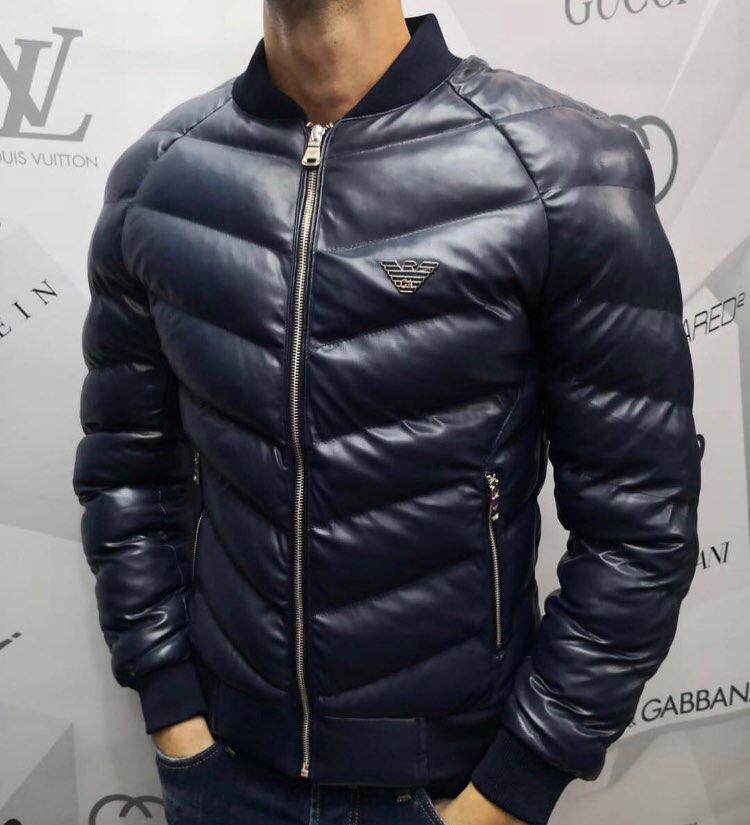 Куртка мужская Armani D4040 синяя демисезонная - купить по лучшей ... cfc925f2bbe