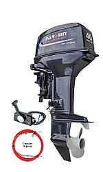 Мотор Parsun T40J FWS (2-х тактный, 40 л.с. короткий дейдвуд, стартер, д/у, цифровое зажигание)