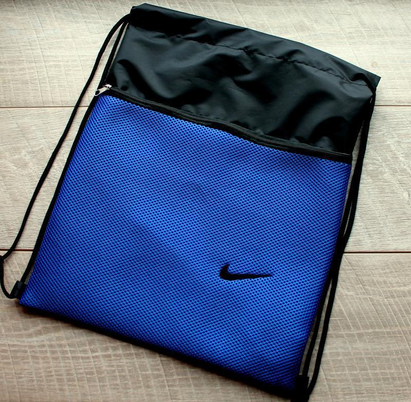 9670b65d49f8 Мешок-сумка для сменной обуви, спортивной формы с логотипом (синий-черный)