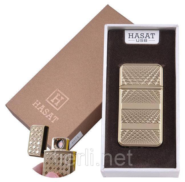 """USB зажигалка в подарочной упаковке """"Hasat"""" (Двухсторонняя спираль накаливания) №XT-4874-2"""