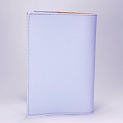 """Обложка на паспорт, голубая, """"Воздушный шар с цветов"""", экокожа, фото 2"""