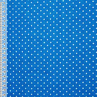 Микровельвет сине-голубой в белый горошек ш.110 (10724.013)