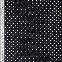 Микровельвет черный в белый горошек ш.110 (10724.015)