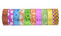 Декоративна клейка стрічка Leader паперовий скотч 15 мм 3 метра (за 10 шт.)