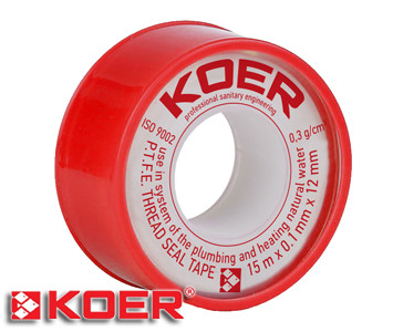 Фум лента Koer 15х0,1х12 мм ST01 вода