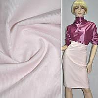 М/вельвет бледно-розовый стрейч, однотонный, ш.150