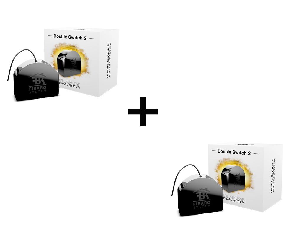 Пара релейних вимикачів FIBARO Double Switch 2