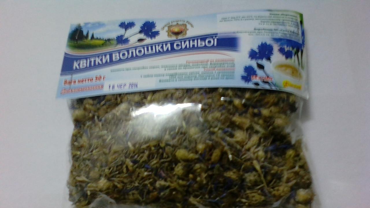 Василек синий, волошка цвет 50 гр