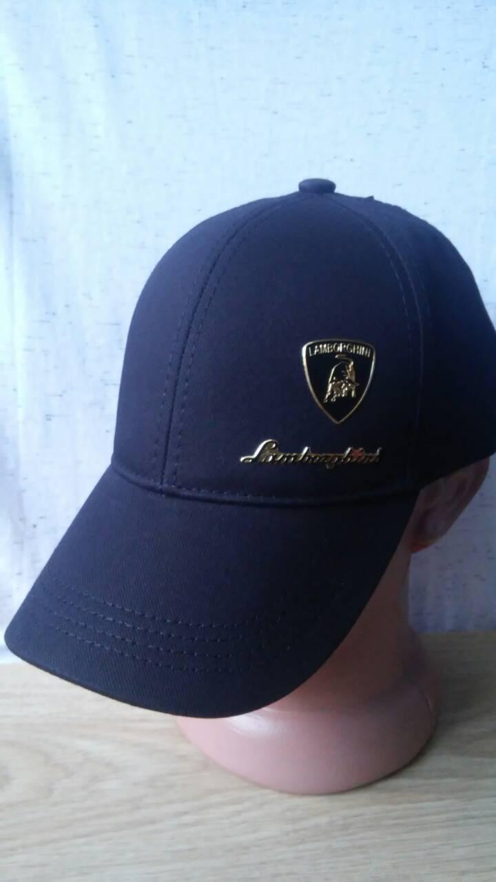 Черная универсальная кепка бренд Lamborghini