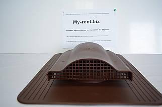Кровельный аэратор KronoPlast WP 1-1 RAL 8017 коричневый под кровельное покрытие