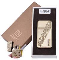 """USB зажигалка в подарочной упаковке """"Hasat"""" (Двухсторонняя спираль накаливания) №XT-4874-4"""