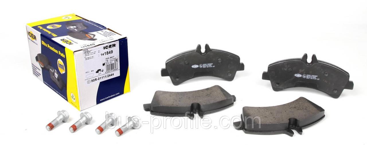 Колодки тормозные (задние) MB Sprinter 509-519 CDI/VW Crafter 50 06- (спарка) (Bosch) — ICER — 141849