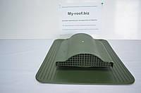 Кровельный аэратор KronoPlast WP 1-5 RAL 6020 Зеленый под кровельное покрытие