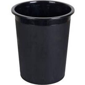 Ведро офисное, черное 26×30,5×20 см   КиП