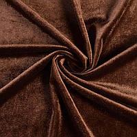 Велюр стрейч коричневий, ш.165 (10855.042)