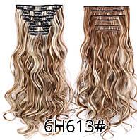 Волосы на заколках цвет мелирование