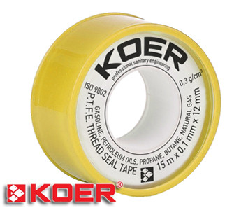 Фум лента Koer 15х0,1х12 мм ST02 газ