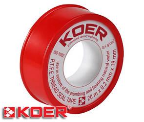 Фум лента Koer 20х0,2х12 мм STP01 вода