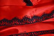 Красный атласный халат, фото 3