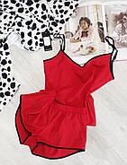 Красный комплект майка и шортики, фото 3