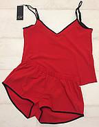 Красный комплект майка и шортики, фото 5