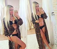 Пляжная накидка Леопард, фото 1