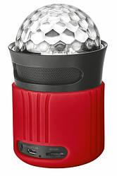 Дисколазер - колонка Trust Dixxo Go Wireless Bluetooth Speaker with party lights Red