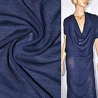 Вискоза жатая темно синяя ш.150, фото 1