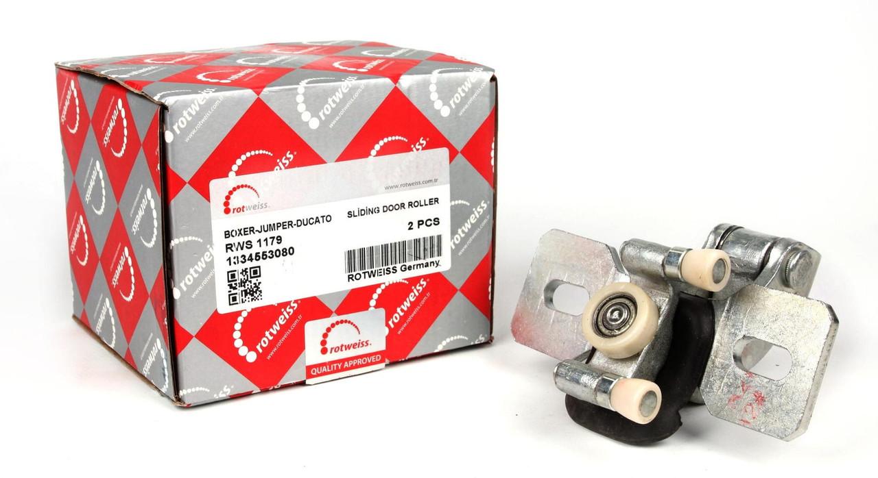 Ролик двери боковой сдвижной (средний) Fiat Ducato/Citroen Jumper/Peugeot Boxer 02-  (кронштейн) (1334553080)