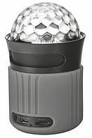 Дисколазер - колонка Trust Dixxo Go Wireless Bluetooth Speaker with party lights Grey