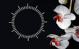 """Часы настенные """"i 15"""", Орхидея  30х40 для кухни, гостиной, детской, спальни. Подарок"""
