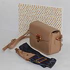 Идеальная кросс-боди с комплектом из двух ремешков Ідеальна бежева крос-боді з коплектом з двох ремінців, фото 7