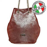 Женская кожаная сумка Италия на цепочке