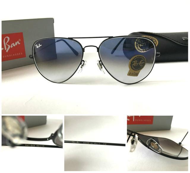 Солнцезащитные очки Ray Ban серо-голубой переход в черной оправе ... ee02f176c8055