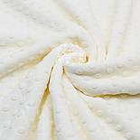 """Ткань """"Махровые minky"""" молочного цвета (М-73), фото 2"""