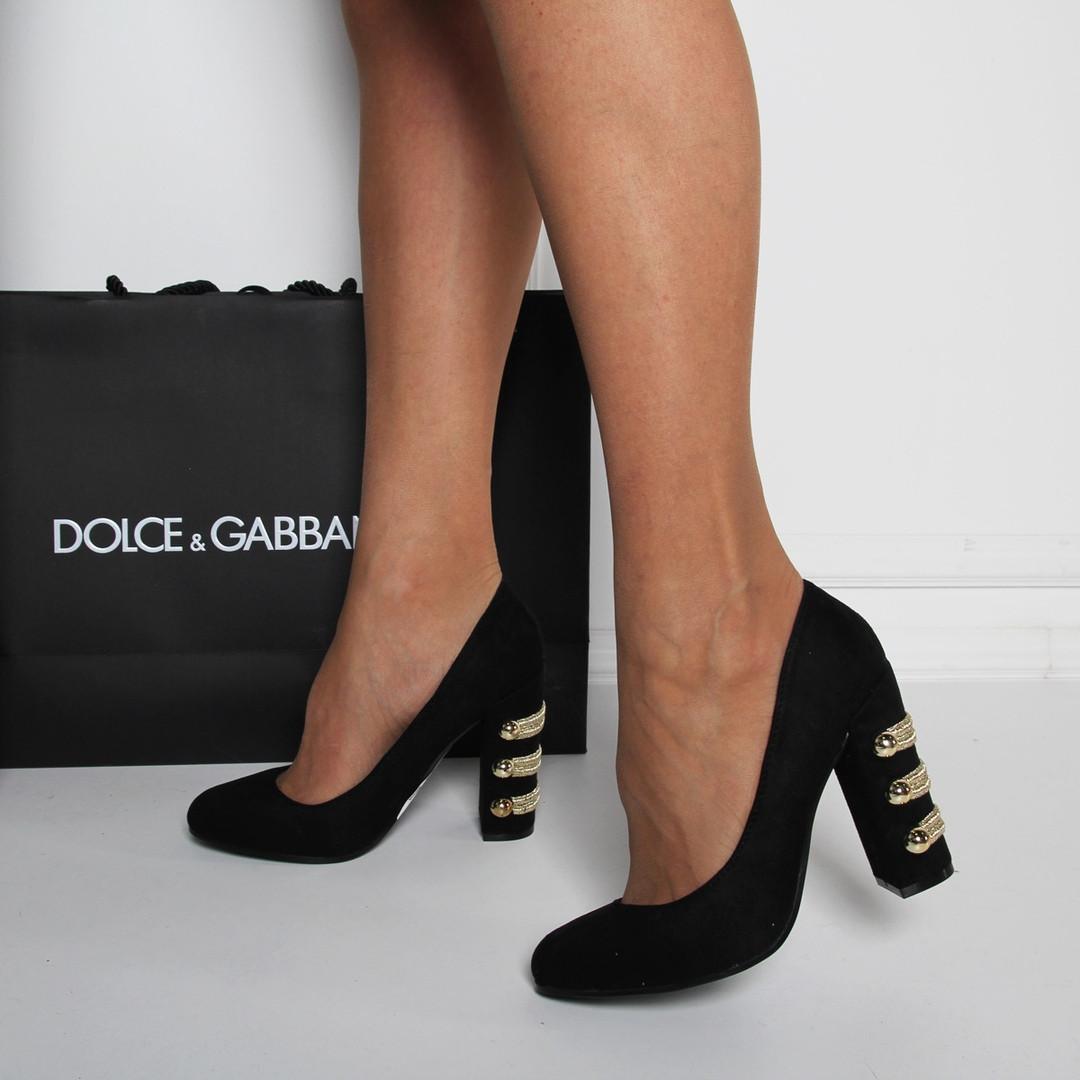 4d6bf9a7a Замшевые туфли черные на широком каблуке код 25241: продажа, цена в ...