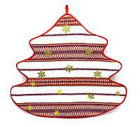 Новогодняя Салфетка/Елка большая текстиль