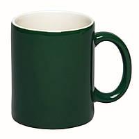 Цветная кружка хамелеон для сублимации Colour Changing Mug, темно зеленая