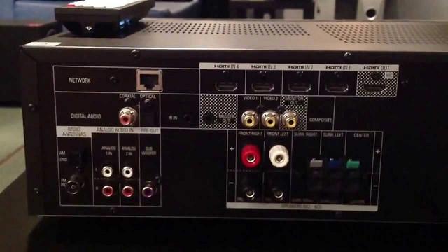 Harman/Kardon AVR 151 rear terminal