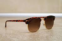 Солнцезащитные очки RB Clubmaster Клабмастер леопардовые