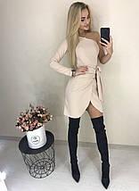 Сногсшибательное платье на одно плечо /разные цвета, 42-46, ft-1032/, фото 3