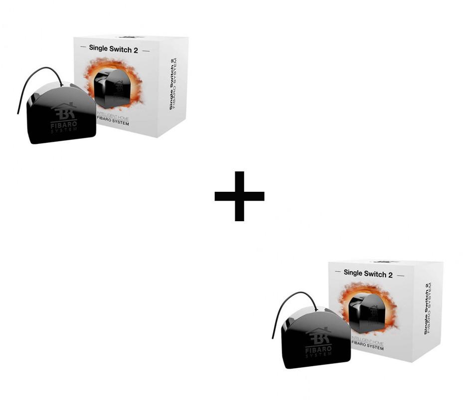 Пара релейних вимикачів FIBARO Single Switch 2