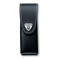 Victorinox Викторинокс чехол для ножа на пояс 111 мм до 6 слоев из черной кожи на липучке