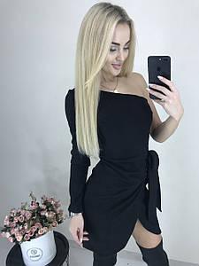 Сногсшибательное платье на одно плечо ft-1032 черное
